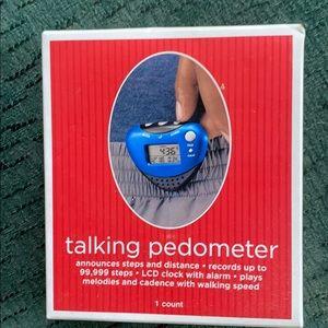 Blue talking pedometer